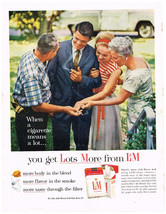 Vintage 1962 Magazine Ad For L & M Cigarettes More Flavor And Gilbey's V... - $5.93