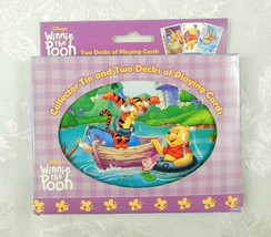 Disney Winnie the Pooh Playing Cards 2 Decks Collector Tin NEW - $18.80