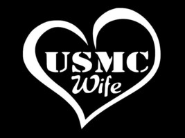 MARINE WIFE USMC Military Vinyl Decal Car Window Truck Sticker CHOOSE SI... - $2.65+