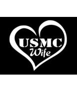 MARINE WIFE USMC Military Vinyl Decal Car Window Truck Sticker CHOOSE SI... - $2.60+