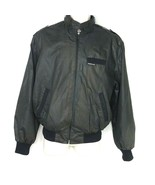 Vintage Members Only Cafe Racer Jacket Men Size 40 Black Band Collar Sna... - $39.59