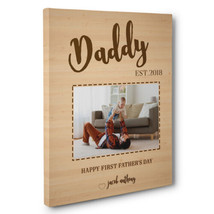 Father's Day Gift Wooden Custom Photo Canvas Wall Art - $29.21