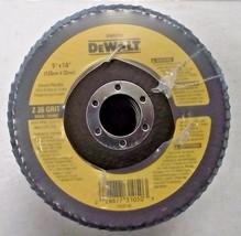 """DEWALT DW8318 5/"""" x  7//8/"""" Z80 Grit Zirconia Flap Disc 5pcs."""