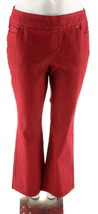 Denim & Co How Smooth Modern Waist Regular Pull-on Jeans Red 12 NEW A229866 - $22.75