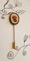 Vtg Vintage Cross Stitch Flower Stick Pins - £6.81 GBP