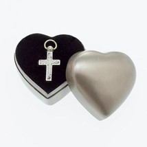 Cross Pendant within a Keepsake Case for Cremation Ashes - $49.99