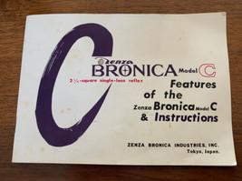 Original Zenza Bronica Model C CameraOwners Instruction Manual Booklet  - $19.79