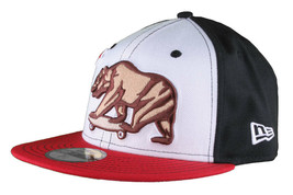 Dissizit California Skating Bear Black Red New Era 59FIFTY Fitted Baseball Hat image 2