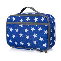 Lunch Box Series Pattern Theme Blue Star Pattern Lunch Bag - $23.99