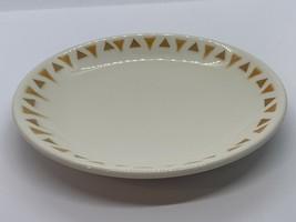 "Vintage Homer Laughlin 7.25"" Plate Brown Triangles TD-1 - $14.85"
