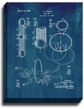 Hoop Toy Patent Print Midnight Blue on Canvas - $39.95+