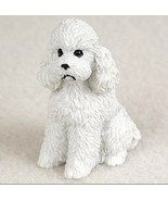 POODLE WHITE (Sport Cut) TINY ONES DOG Figurine Statue pet lovers gift r... - $9.99