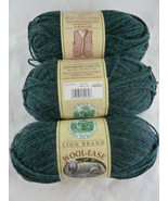 Lion Brand Wool-Ease Worsted Weight Yarn 180 Forest Green Heather New 3 ... - $20.78