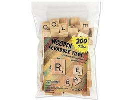 Wooden Scrabble Tiles image 1