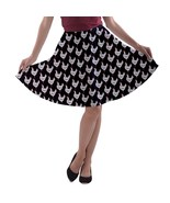 Women's Hen Chicken Print Casual Stretchy Flared A-Line Skater Skirt Siz... - $28.99+