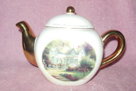 Telaflora Thomas Kinkade 'home Is Where The Heart Is' Collector Teapot Mint - $24.99