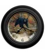 "Reflective Art Wall Clock Stepping Stones Black Bear 10"" Wildlife Hunter Clocks - $25.79"