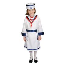 dress up america White Sailor Uniform Girls' Costume Halloween SIZE 8-10 -NO HAT - $14.99