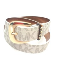 MICHAEL KORSVanilla Belt Gold Tone Buckle Signature Sz. Extra Large 552374C - $38.50