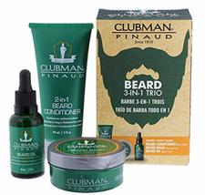 Clubman Pinaud Beard Kit Includes Conditioner Balm & Oil BEARD 3 IN 1 KIT