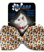 Holiday Pet bowties Baby Rudy Pet Bow Tie Collar Accessory with Velcro - $13.47