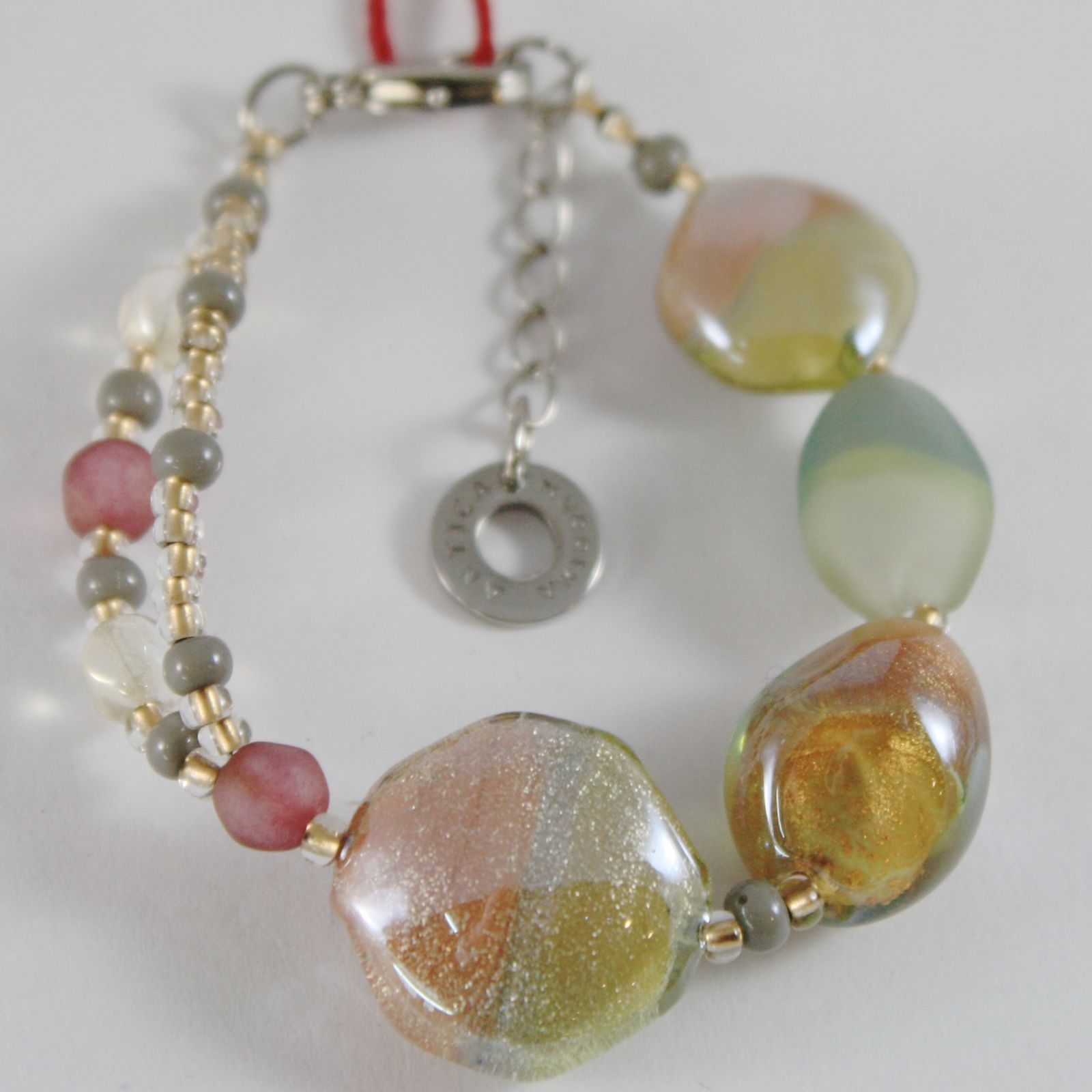 BRACELET ANTICA MURRINA VENEZIA WITH MURANO GLASS SAND AND BEIGE BR725A10