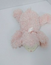 Baby Gund SMALL Plush Fluffles pink Lamb Sheep rattle lying 58154 laying... - $26.72