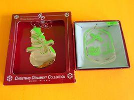 Gloria Duchin Snowman Christmas Ornaments w/ Box Made in USA 24K Goldton... - $9.99
