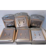 LOT OF 40 GE STAINLESS STEEL SATIN NICKEL DOULBLE WALL SWITCHPLATES NEW - $18.95