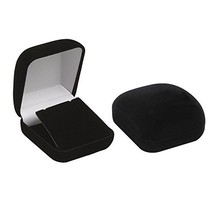 6 Black Flocked Earring Pendant Jewelry Gift Boxes - $11.34