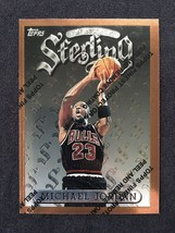 Michael Jordan Card 1996 Topps Finest Sterling With Protective Peel 50 - $27.71