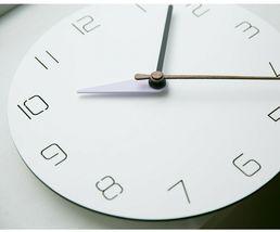 Moro Design 3 Color Hands Wall Clock non Ticking Silent Clock (Classic Purple) image 3