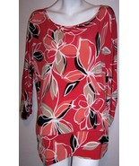 JM Collection Top 2X Stretch Knit Boho Floral Tunic Shirt Blouse Plus Si... - $21.85