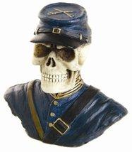 PTC 2.50 Inch Resin United States Northern Soldier Skull Figurine - $9.99
