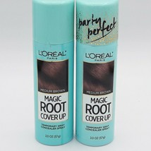 2 L'oreal Magic Root Cover Up Temporary Gray Concealer Spray Med. Brown 2oz. - $16.34