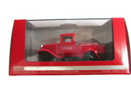 Coca-Cola 1:43 1934 Model A Pickup with 6-bottle carton New In Bo - $24.26