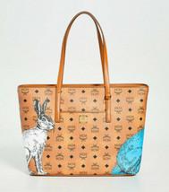 MCM Anya Hide And Seek Rabbit Bunny Medium Shopper Tote ~NWT~ Cognac - $742.50
