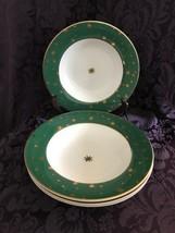 Lot of 4 Sakura Galaxy Green Bowls with gold stars and trim - $29.69