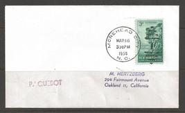 1958 Paquebot Marking, Morehead City, North Carolina (Mar 16) - $5.00