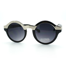 Unique Round Sunglasses Womens Fashion Metallic Top Circle Frame - $8.95