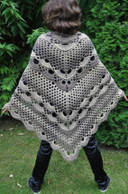 Triangle crochet Shawl, XL crochet Wrap, trends wraps, Chunky Wool Croch... - €63,44 EUR