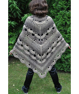 Triangle crochet Shawl, XL crochet Wrap, trends wraps, Chunky Wool Croch... - $69.00