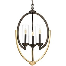 Progress Lighting P400024-020 Evoke Three-Light Chandelier, Antique Bronze - $6.283,34 MXN