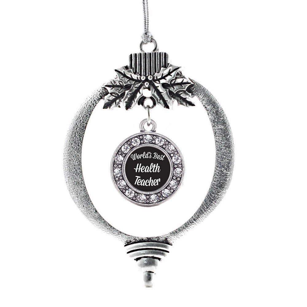 Primary image for Inspired Silver World's Best Health Teacher Circle Holiday Decoration Christmas