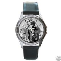Bonnie and Clyde Round Leather Band Watch - $9.39