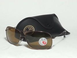 Ray-Ban RB3267 64mm Polarized Sunglasses Brown Metal Frame Unisex 64x13x... - $92.15