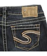 "Silver Frances 22"" Distressed Dark Wash Flare Stretch Jeans Womens 24 24x32 - $29.60"
