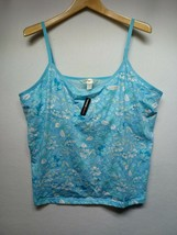 Avenue Body Womens Plus Size L (26/28), Blue Tank Top with Built in Bra - $13.36