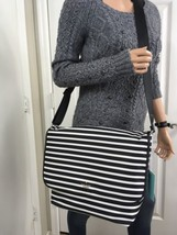 NWT KATE SPADE Kent Nylon Black Striped Messenger Cross Body Baby Diaper... - €117,02 EUR
