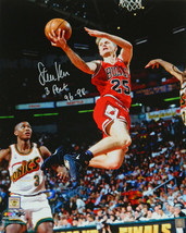 Steve Kerr signed Chicago Bulls Lay Up Action 16x20 Photo w/ 3 Peat 96-9... - £52.93 GBP